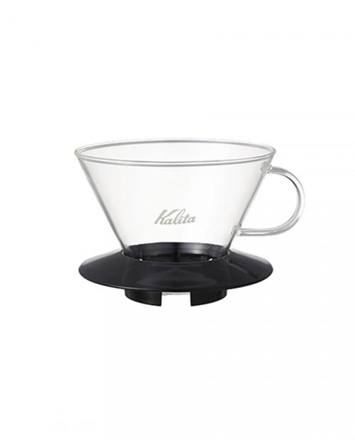 Kalita職人 185系列蛋糕型玻璃濾杯(經典黑)